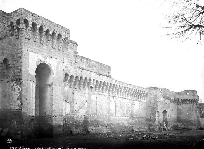 Remparts Côté ouest, état avant restauration, Mieusement, Médéric (photographe),