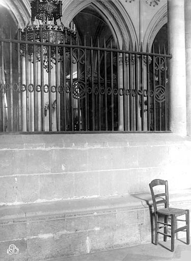 Eglise de Saint-Etienne-le-Vieux (ancienne) Grille du choeur, Durand, Jean-Eugène (photographe),