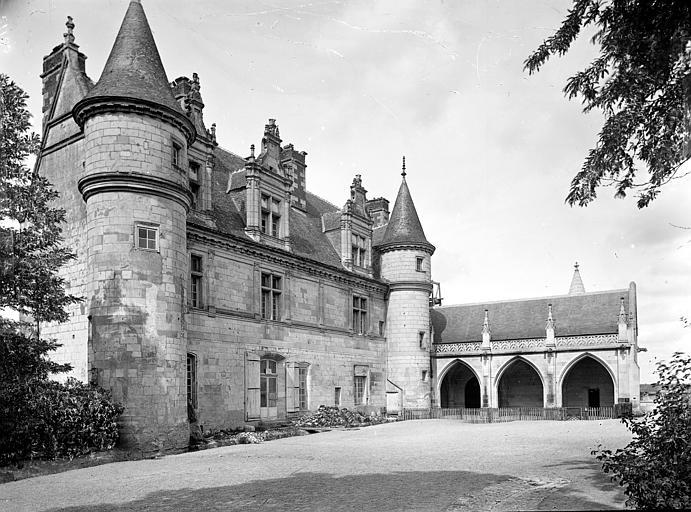 Château Aile Louis XII et galerie en retour, côté sud-est, Cousin,