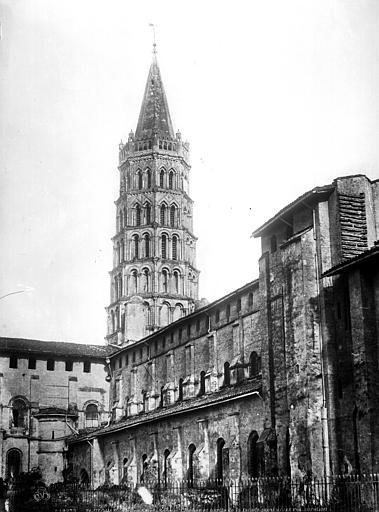 Eglise Saint-Sernin Façade nord et clocher, Le Gray, Gustave ; Mestral, Auguste (photographe),