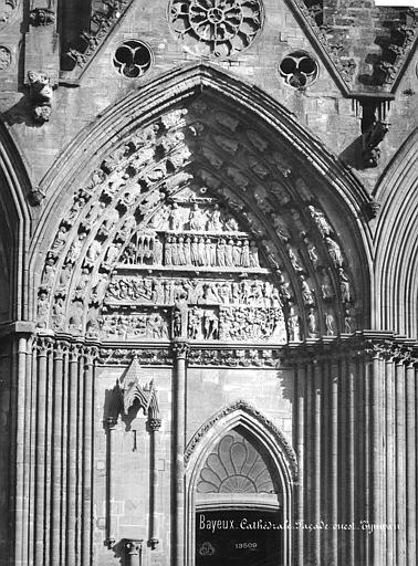 Cathédrale Notre-Dame Portail sud de la façade ouest : Tympan, Mieusement, Médéric (photographe),