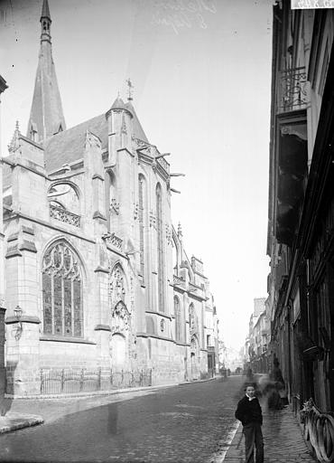 Eglise Saint-Aspais Abside, Enlart, Camille (historien),