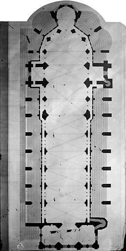 Abbaye Saint-Nicolas (ancienne) Dessin, église, Durand, Eugène (photographe), 75 ; Paris ; Médiathèque de l'Architecture et du Patrimoine