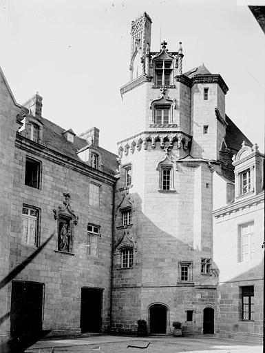Evêché (ancien) ; Musée départemental breton Logis, Enlart, Camille (historien),