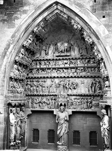 Cathédrale Notre-Dame Portail nord, portail de la Résurrection, ensemble, Lajoie, Abel,
