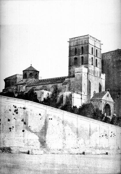 Palais des Papes Ensemble nord-ouest (partie gauche d'un panorama), Baldus, Edouard (photographe),