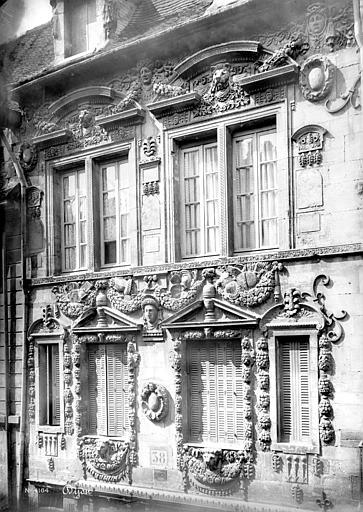 Maison Milsand, dite aussi des Ambassadeurs Façade sur rue : Premier et deuxième étages, Mieusement, Médéric (photographe),