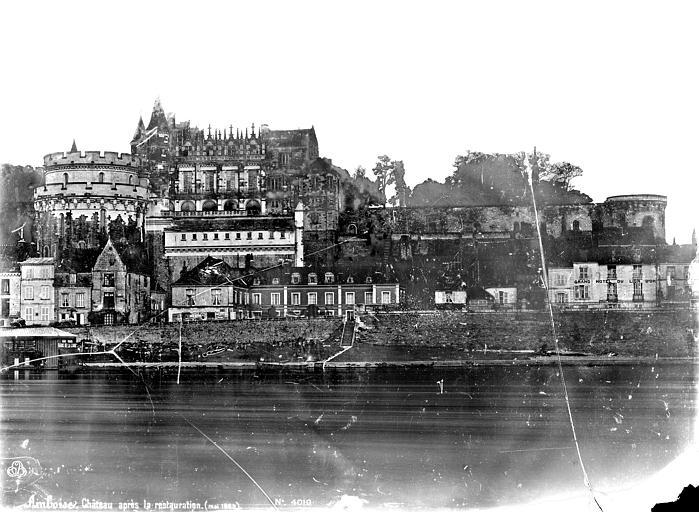 Château Vue d'ensemble sur la Loire, côté nord, Mieusement, Médéric (photographe),
