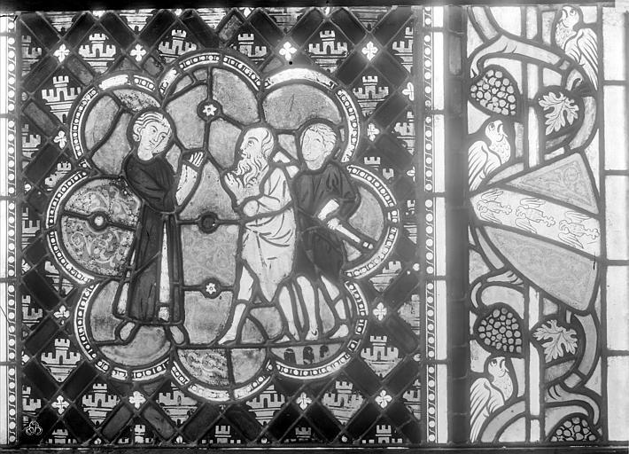 Cathédrale Saint-Dié Vitrail : Légende de saint Dié, Durand, Jean-Eugène (photographe),
