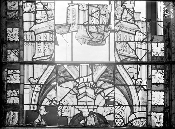 Cathédrale Saint-Etienne (ancienne) Vitrail du transept nord, fenêtre D, panneau médian, Romanais (photographe),