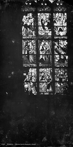 Eglise Saint-Godard Vitrail : Vie de la Vierge, Leprévost (photographe),