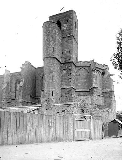 Eglise de Lamourguié (ancienne) Abside et clocher, Enlart, Camille (historien),
