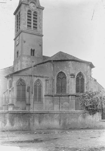 Eglise Abside et clocher, Durand, Georges (photographe à Amiens),