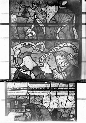 Eglise Vitraux, panneaux 1, 14, 15 de la baie F, Nadeau, H. (photographe),