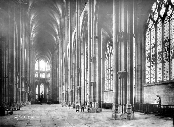 Eglise Saint-Ouen Vue intérieure de la nef vers le sud-est, Mieusement, Médéric (photographe),