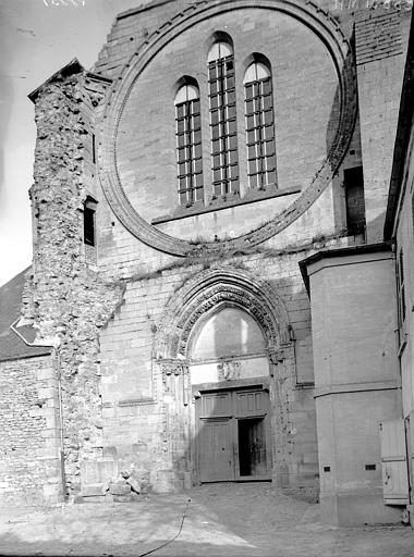 Eglise Saint-Frambourg Façade, Enlart, Camille (historien),