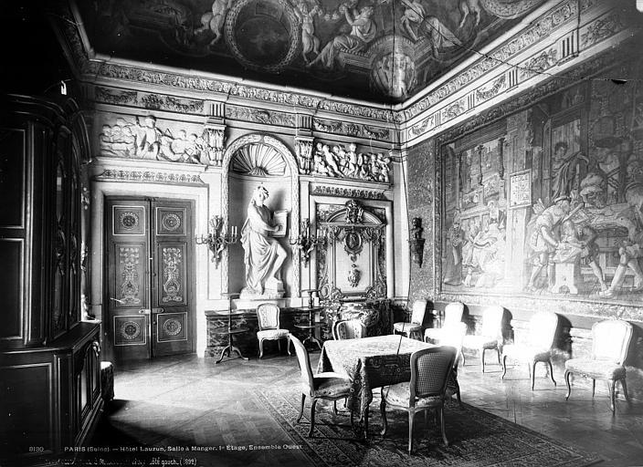Hôtel de Lauzun ou Hôtel de Pimodan Salle à manger, côté gauche, Mieusement, Médéric (photographe),