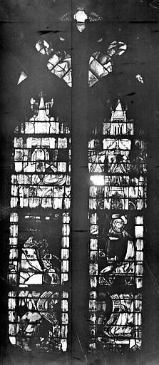 Abbaye Saint-Serge (ancienne) Vitrail, Berthault (photographe),