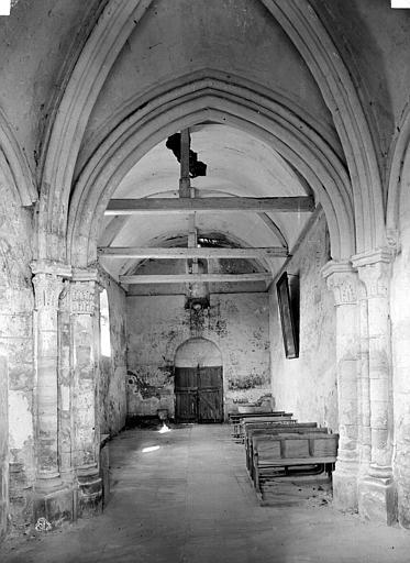 Eglise de Noël-Saint-Martin (ancienne) Nef, vue du choeur, Durand, Eugène (photographe),