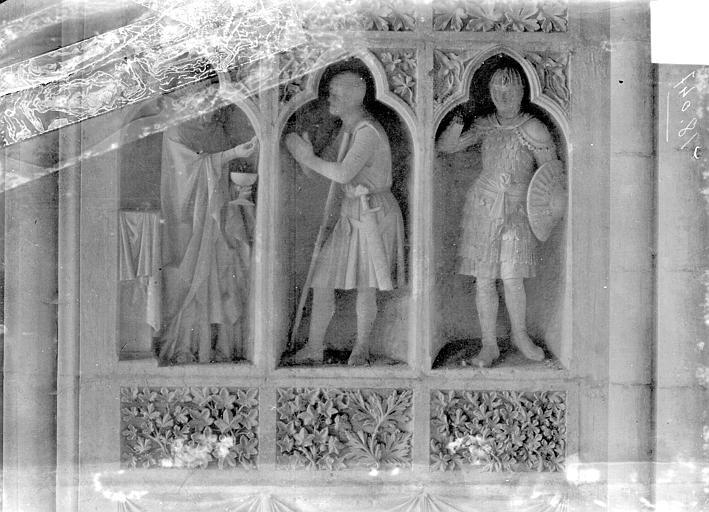 Cathédrale Revers du grand portail de la façade ouest, côté droit, premier registre, Sainsaulieu, Max (photographe),