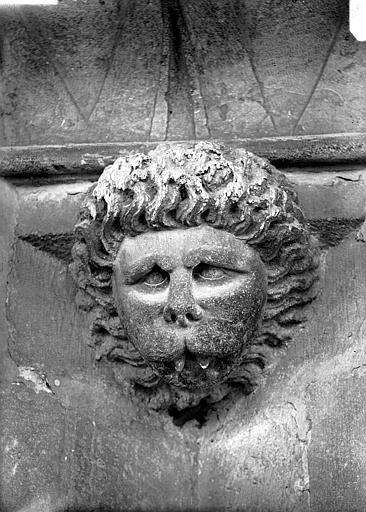 Cathédrale Notre-Dame Tête d'amortissement, mufle de lion, Lajoie, Abel,