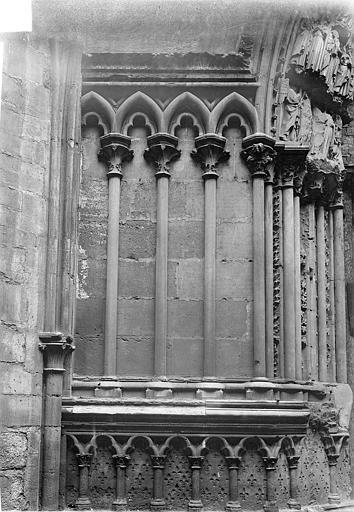 Basilique Saint-Denis Portail du transept sud : arcatures de l'ébrasement gauche, Vorin,