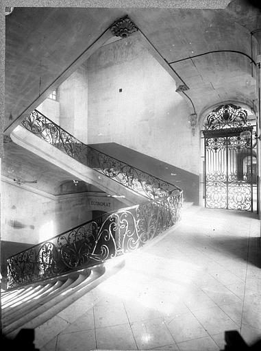 Abbaye aux Hommes (ancienne) 1er escalier : Palier, Durand, Jean-Eugène (photographe),