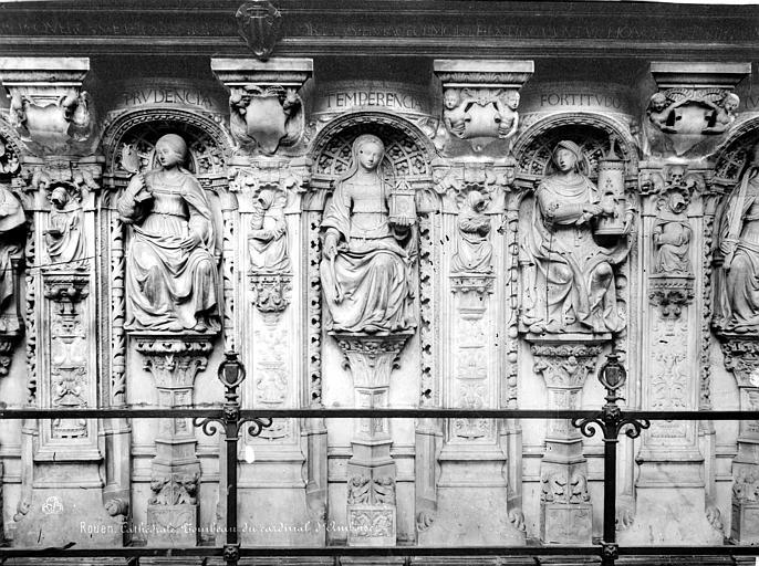 Cathédrale Notre-Dame Tombeaux du cardinal d'Amboise : statues des Vertus, Mieusement, Médéric (photographe),