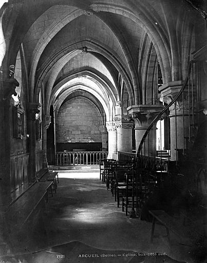 Eglise Saint-Denys Bas-côté sud, Durand, Eugène (photographe),