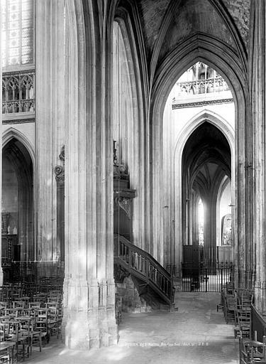 Eglise Saint-Maclou Vue intérieure du bas-côté sud, vers l'est, Durand, Jean-Eugène (photographe),