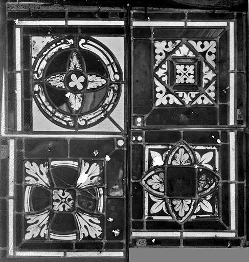 Cathédrale Saint-Jean Vitrail : fragments décoratifs, ,