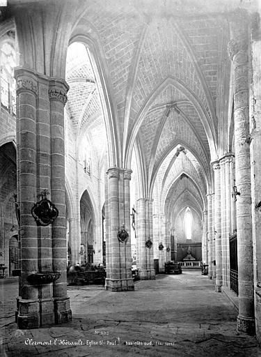 Eglise Saint-Paul Vue intérieure du bas-côté sud, vers l'est, Mieusement, Médéric (photographe),