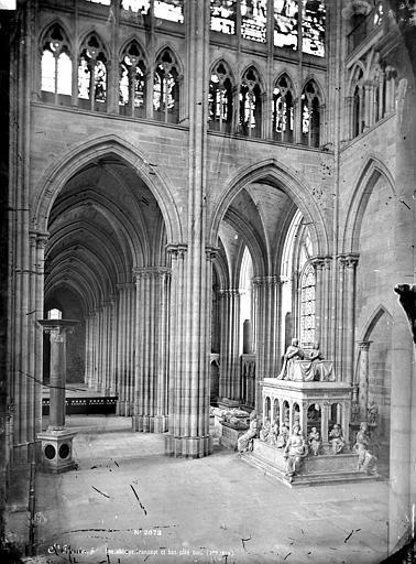 Basilique Saint-Denis Vue intérieure du transept et du bas-côté sud, Mieusement, Médéric (photographe),