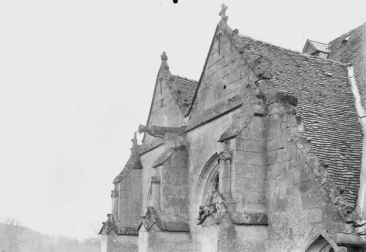Eglise Pignons, détail, Service photographique,