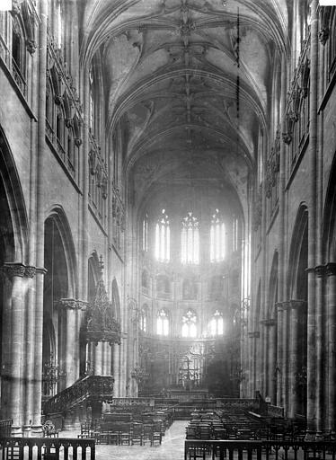 Eglise Saint-Nizier Nef, vue de l'entrée, Durand, Eugène (photographe),