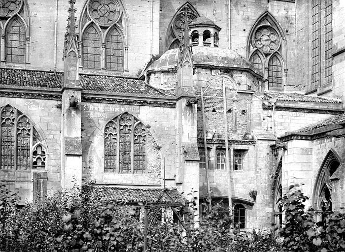 Cathédrale Saint-Etienne (ancienne) Façade sud : chapelle, Mieusement, Médéric (photographe),