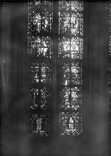 Cathédrale Notre-Dame Chapelles du choeur, vitrail E', Gaudin,
