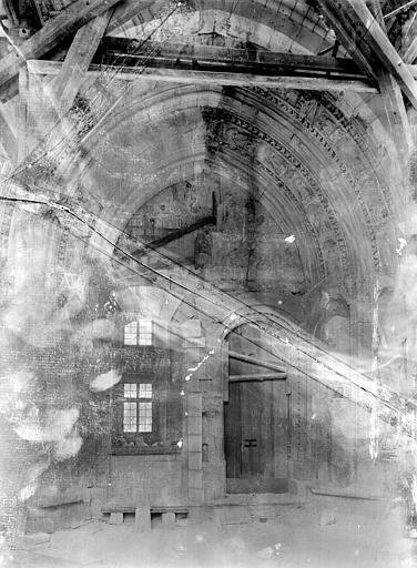 Palais des Papes Chapelle de Clément VI : Vue d'ensemble du portail, Durand, Jean-Eugène (photographe),