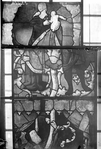 Eglise Vitraux, panneaux 8, 9, 12 de la baie E, Nadeau, H. (photographe),