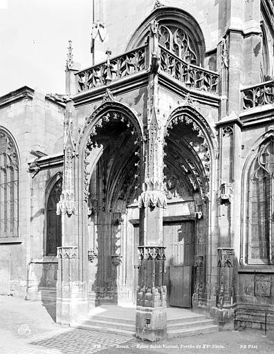Eglise Saint-Vincent (ancienne) Porche, Neurdein Frères (photographes),