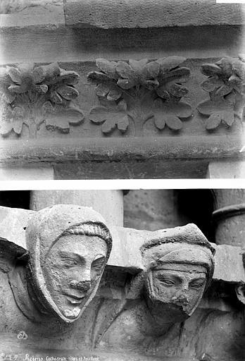 Cathédrale Notre-Dame Transept sud : détail de figures sculptées et d'ornement végétal, Mieusement, Médéric (photographe),