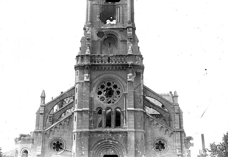 Eglise Saint-André Façade ouest : partie médiane, Goubeau (photographe),