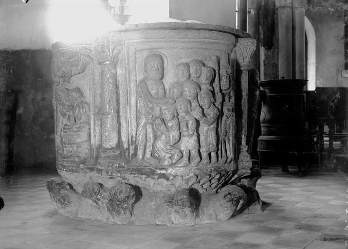 Eglise Fonts baptismaux, Enlart, Camille (historien),