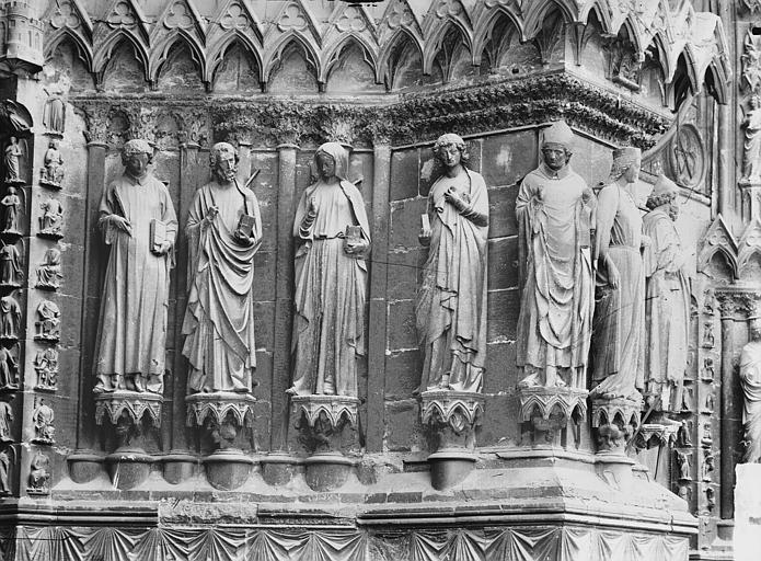 Cathédrale Notre-Dame Portail ouest, porte centrale, ébrasement gauche, Lajoie, Abel,