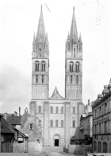 Abbaye aux Hommes (ancienne), Eglise Saint-Etienne Façade ouest, Durand, Jean-Eugène (photographe),