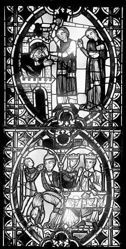 Cathédrale Saint-Jean Vitrail : Décollation de saint Jean-Baptiste. Festin d'Hérode, ,