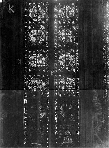 Cathédrale Notre-Dame Chapelles du choeur, vitrail K, Gaudin,