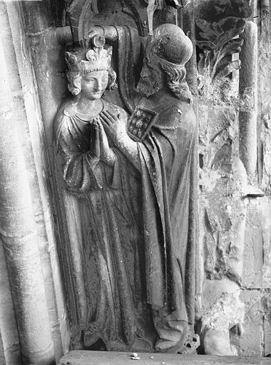 Cathédrale Notre-Dame Portail ouest, groupe, Sacre de David, Lajoie, Abel,