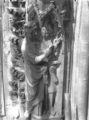 Cathédrale Notre-Dame Portail ouest, rose, détail de la voussure, Lajoie, Abel,
