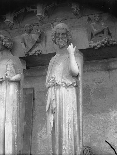 Cathédrale Notre-Dame Bras nord du transept, statue de prophète, Lajoie, Abel,